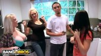 BangBros - Random Orgy With Allie Jordan, Angel Vain & Katie Kox