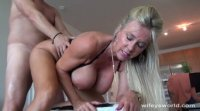 Wife Swallows Cum Stranger