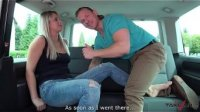 Talking blonde teacher Nikky Dream fucked in van by stranger