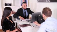 Business meeting with hot MILF Alyssia Kent results in double penetration
