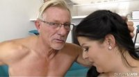 Old lover can't wait for busty Anissa Jolie to sit her ass on his cock